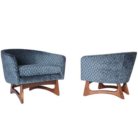 wide armchair adrian pearsall wide barrel club chairs at 1stdibs