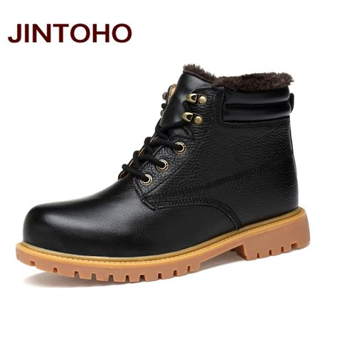 Bradleys Original Leather Boots jintoho large size black shoes high quality genuine leather ankle boots italian black