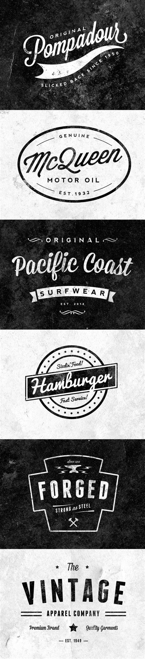 retro logo templates 6 free customizable retro vintage logos emblems