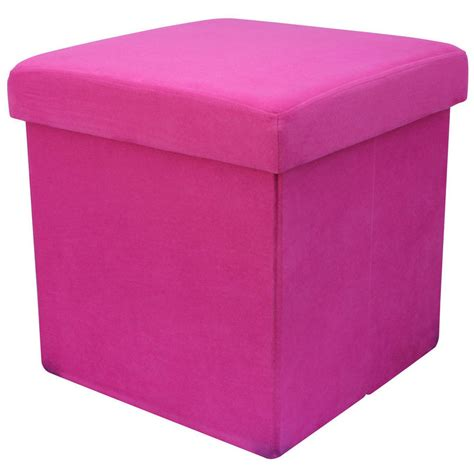 Suede Storage Ottoman Faux Suede Folding Storage Pouffe Stool Seat Ottoman Box With Lid