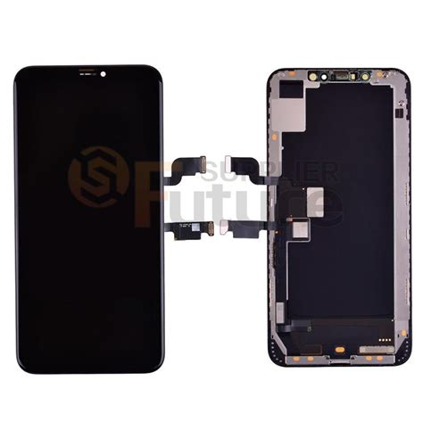 apple iphone xs max lcd screen digitizer assembly with frame black