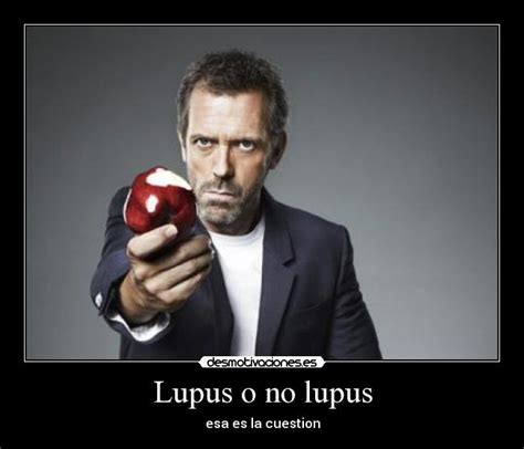lupus house lupus o no lupus desmotivaciones