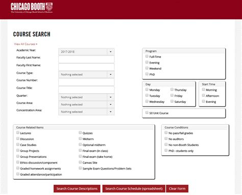 Chicago Booth Mba Application Login by Course Descriptions The Of Chicago Booth