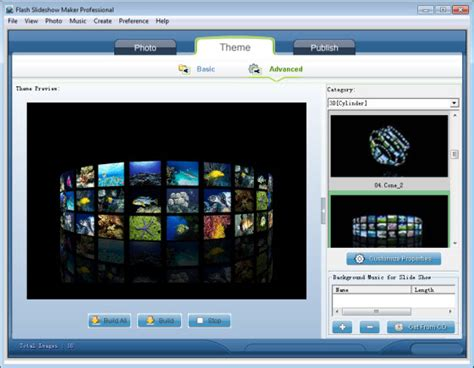 themes photo slideshow creator screenshots of flash slideshow maker