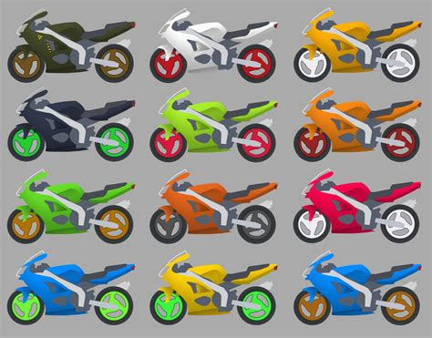 motorcycle color schemes by writenrun on deviantart