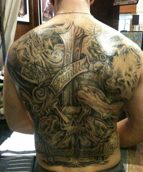 60 fabulous cross tattoos for back