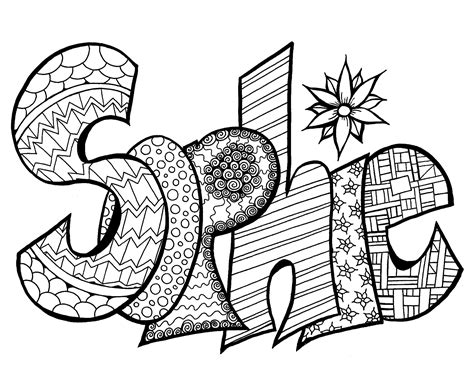 sophie free printable name coloring page stevie swift