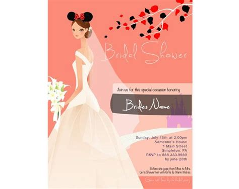 bridal shower invitation disney theme