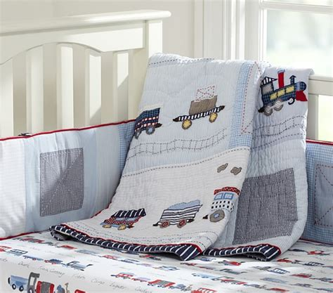 train crib bedding logan nursery bedding pottery barn kids
