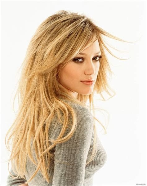 layered hair around face long layered blond hair hilary duff hair central
