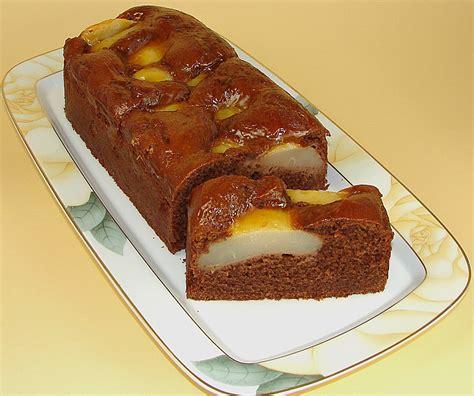 kuchen schokolade birnen schokolade kuchen rezept mit bild