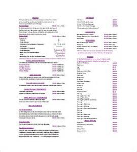 hair salon price list template for word motorcycle
