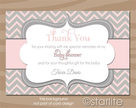 thank you phrases for baby shower thank you card wording for baby shower