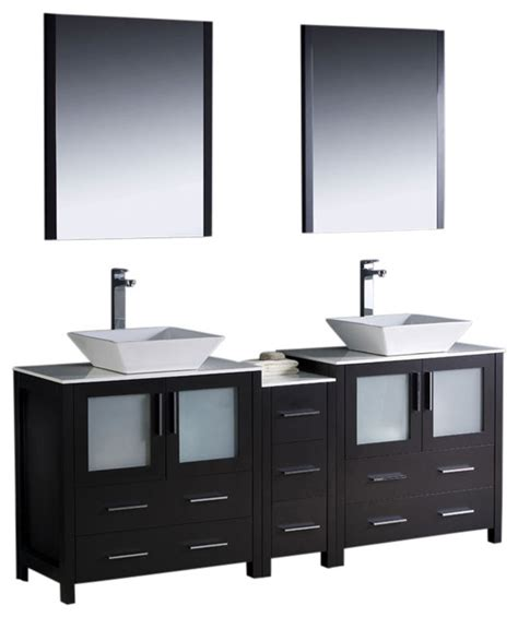 chrome bathroom cabinets torino 72 quot espresso sink vanity side cabinet and