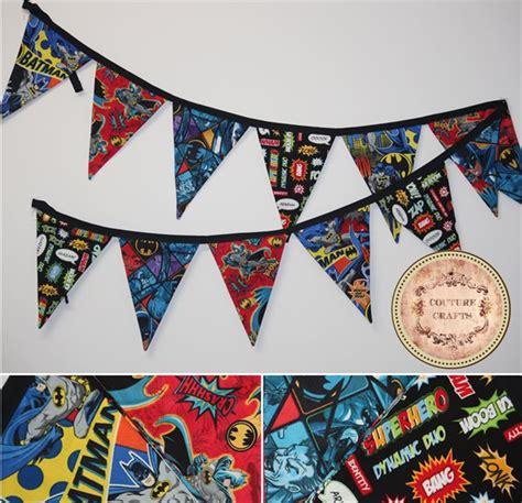 Banner Betmen Bunting Flag Batman handmade fabric flag banner bunting quot batman quot couture