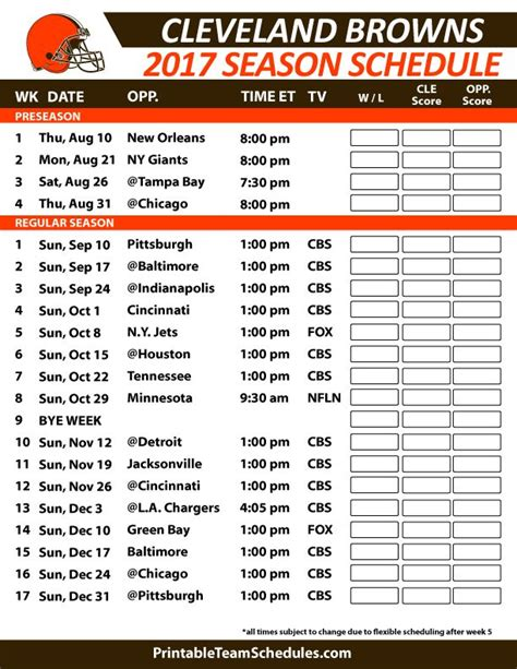 printable nfl schedule 2017 38 best nfl football schedule 2017 images on pinterest