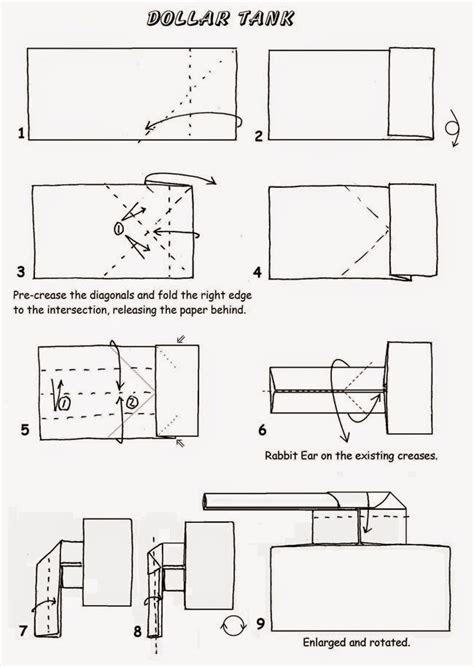 origami tank printable instructions origami tank instructions easy paper craft for kids