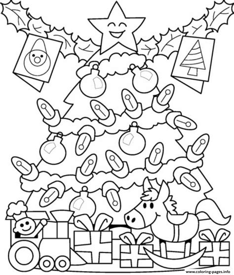 Download Coloring Pages Christmas Tree Lights Coloring Tree Lights Coloring Page