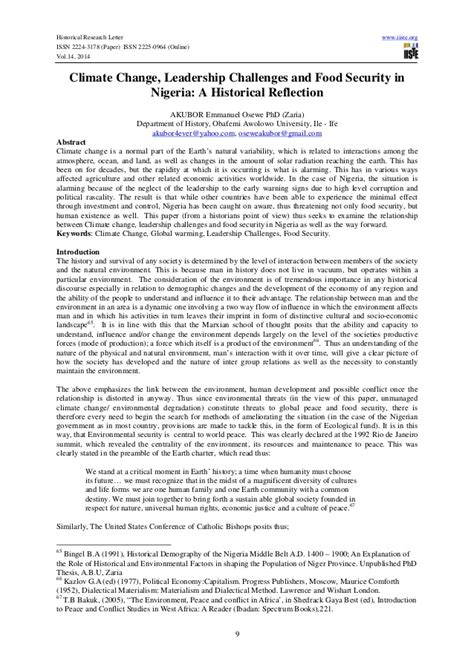Doctorate In Security 1 by Climate Change And Food Security Phd Thesis Pdfeports585