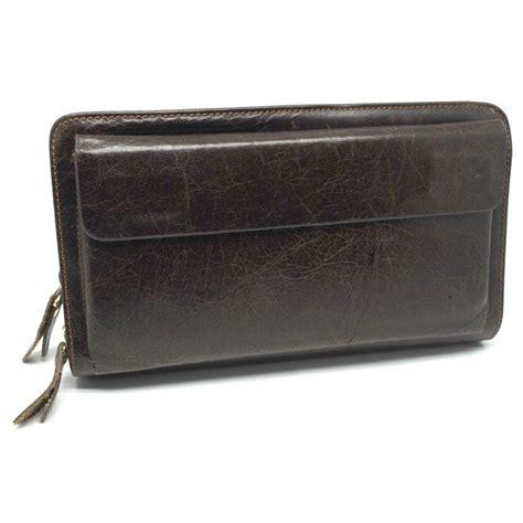 dompet kulit clutch pria zipper brown jakartanotebook
