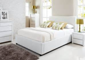 Modern Contemporary Platform Beds - henley white leather ottoman storage bed ottoman beds storage beds beds