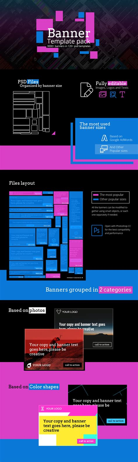 Banner Template Generator Pack Design Shock Banner Template Maker