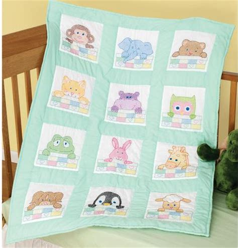 Cross Stitch Baby Quilt Patterns by Dempsey Needle Stepping Quilt Blocks Sted Cross Stitch Kit 732268