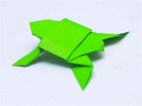 How To Make Paper Tortoise - how to make an origami turtle with pictures wikihow