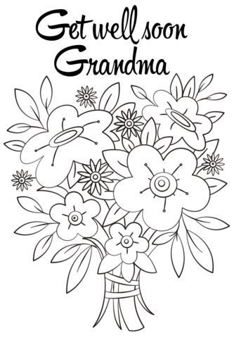 get well soon grandma coloring pages get well soon grandma coloring page free printable