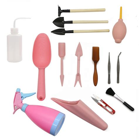1 Set Dig Seedlings Tool Planting Tool Warna Hijau recomeneded lepohome 15 pieces succulent transplanting mini garden tool set for indoor