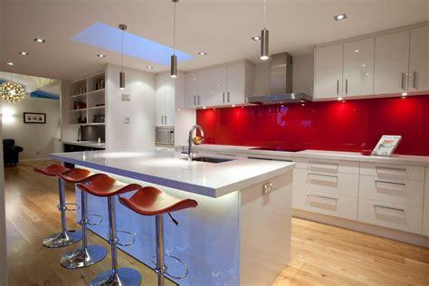 high back kitchen back painted glass backsplash kitchen modern with high