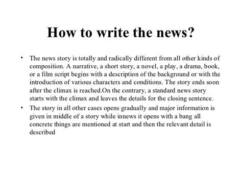 how to write a news report template television news writing