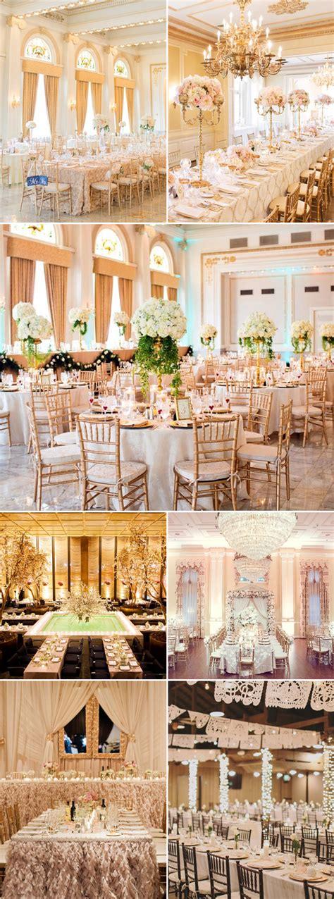 luxury indoor wedding concept  beautiful color ideas