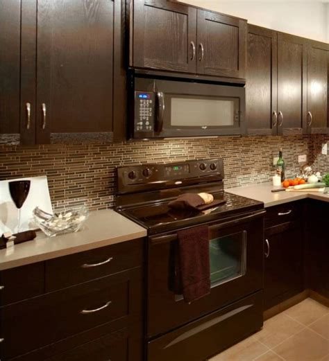 Kitchen Backsplash Ideas For Dark Cabinets by Kitchen Backsplash Ideas With Dark Cabinets Library