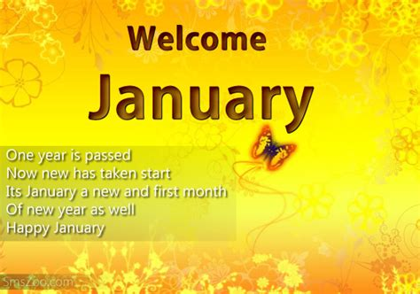 welcome january quotes wishes happy new month sms
