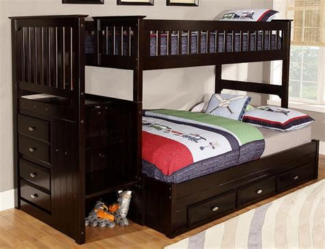 twin over full bunk beds stairs huntington twin over full stairway bunk beds bunk beds