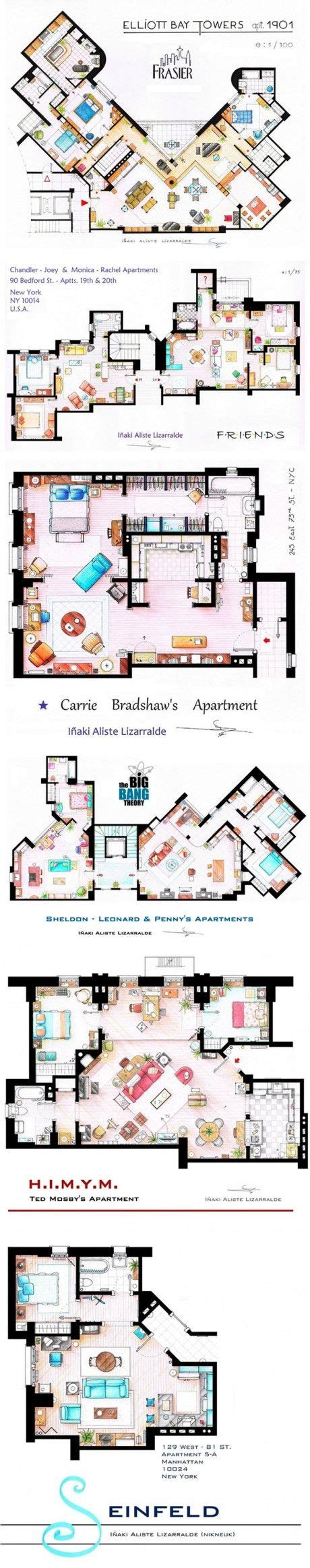 big theory floor plan floor plans seinfeld and tv shows on