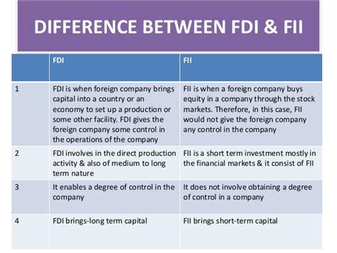 Essay On Fdi And Fii by Fdi And Fii