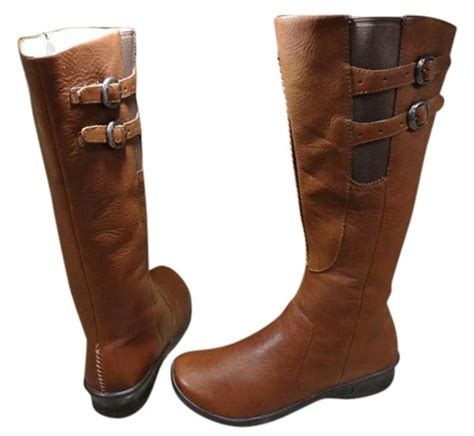 keen wide calf buckles leather equestrian brown