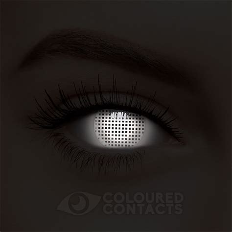 Softlens Glow In The Series Illuminant Lense Normal Only uv i glow screen 90 day white coloured contact lenses coloured contacts uk