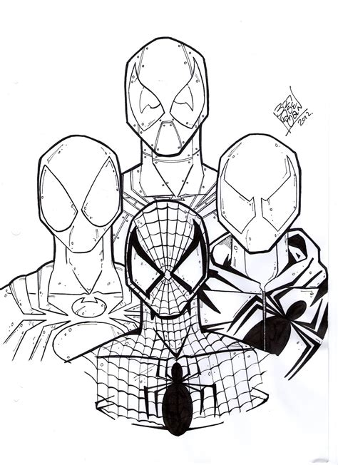 new scarlet spider pages coloring pages
