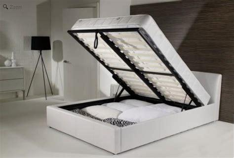 white leather ottoman bed white leather ottoman bed homehighlight co uk