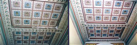 soffitti in legno decorati restauri di soffitti in legno decorati rosa restauri