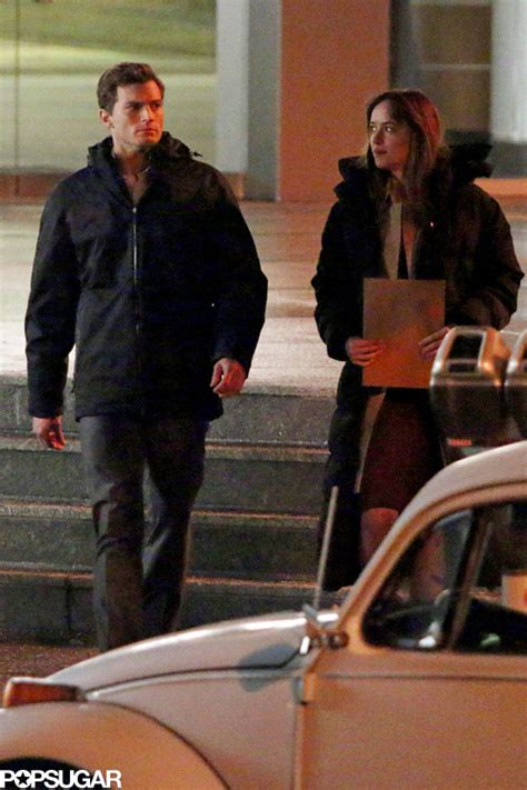 50 shades of grey starts filming in vancouver b c 50 dakota johnson kissing jamie dornan for fifty shades of