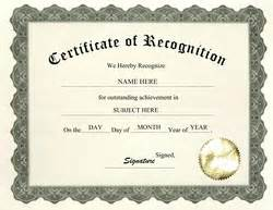 Recognition Of Service Certificate Template by Templates For Certificates Of Recognition Http
