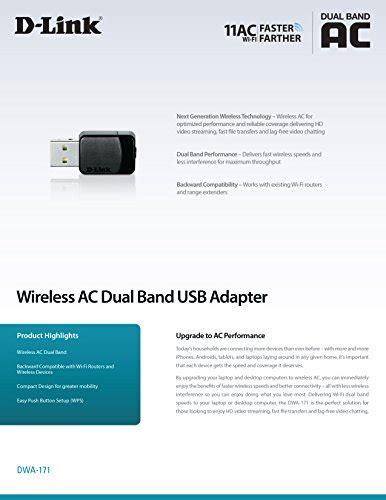 Dlink Dwa 171 Wireless Ac600 Dual Band Usb Ethernet Adapter d link wireless dual band ac600 mbps usb wi fi network