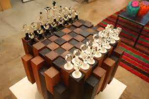 Unique Clear Glass Vases Custom Chess Board Zollie Glass Studio