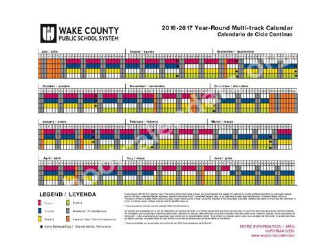 2016 2017 wake county year round calendar calendar