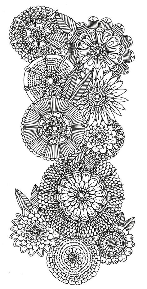 floral inspirations a detailed floral coloring book books abstract doodle flower coloring pages colouring