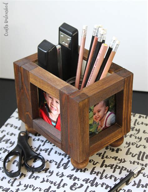 Diy Desk Organizer Wood Photo Frames Consumer Crafts Photo Desk Organizer